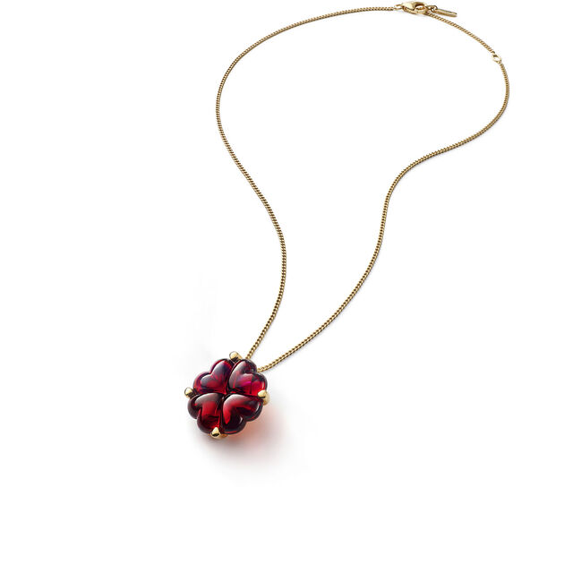 TRÈFLE RED PENDANT & GOURMETTE CHAIN