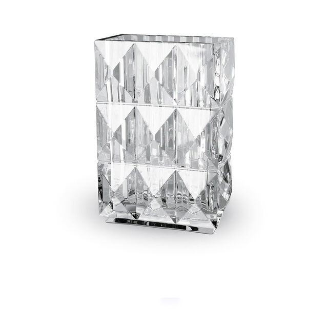 LOUXOR Rectangular VASE, Clear