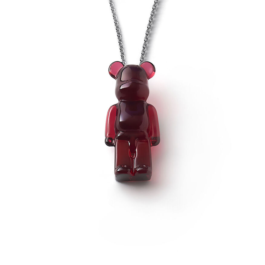 BACCARAT BE@RBRICK NECKLACE, Red