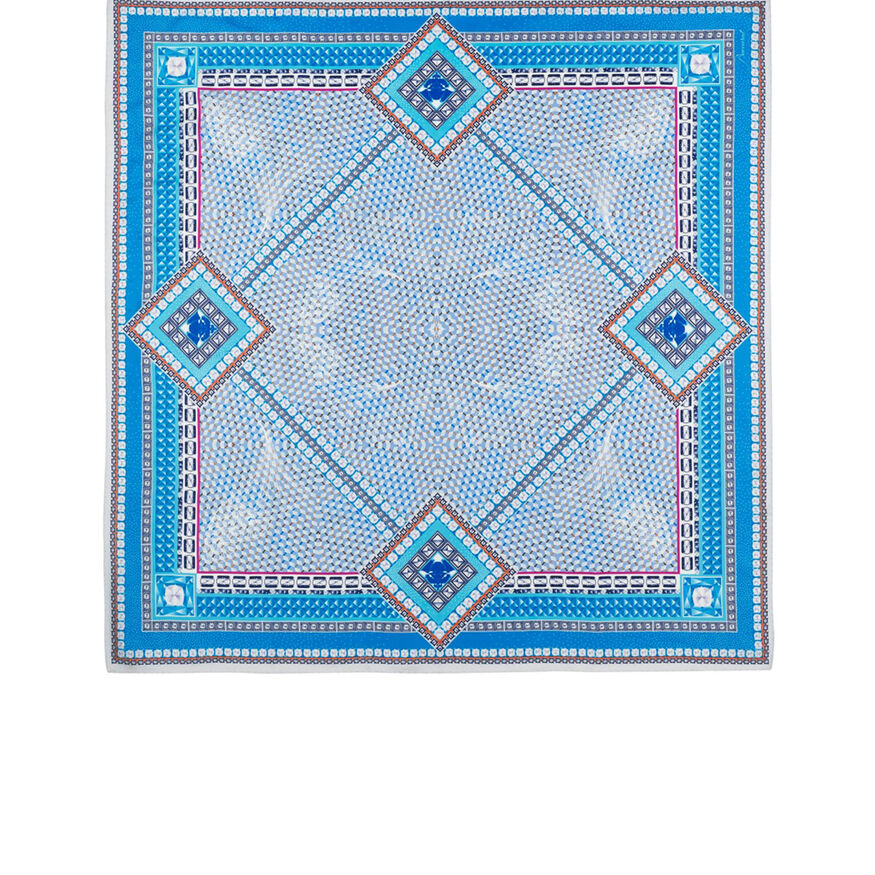LOUXOR SILK TWILL SCARF, Light blue