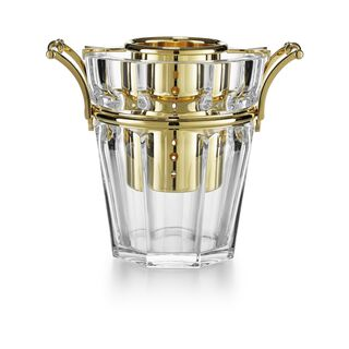 HARCOURT CHAMPAGNE COOLER  Clear & gold