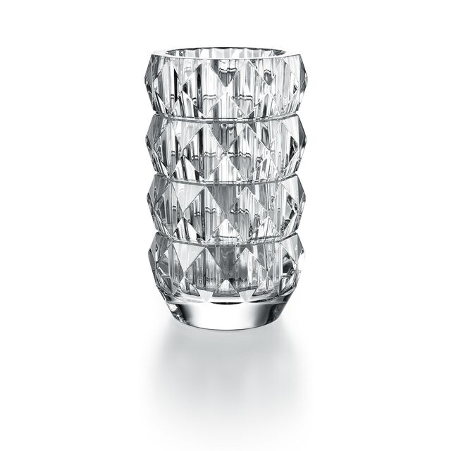 LOUXOR ROUND VASE, Clear