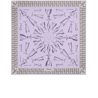 HARCOURT SILK TWILL SCARF  Light pink