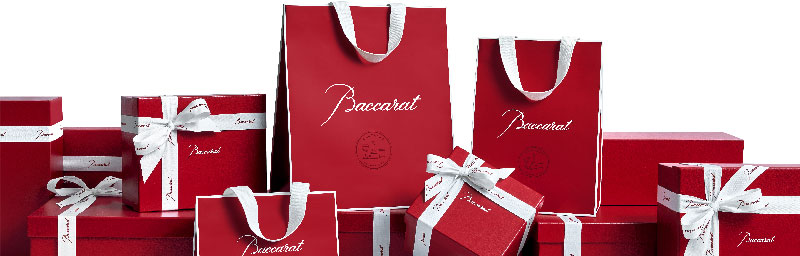 Baccarat red gift package